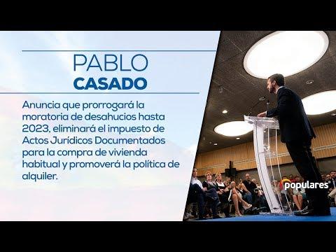 Pablo Casado anuncia que prorrogará la moratoria de desahucios hasta 2023.