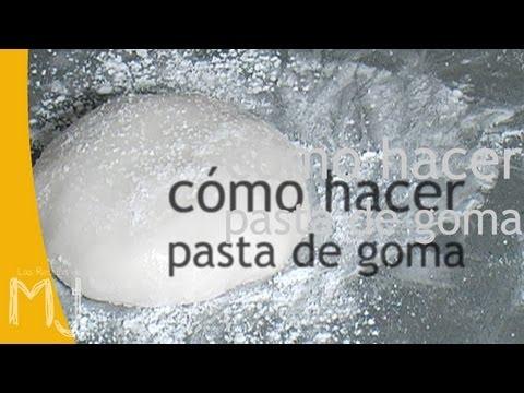 pasta de goma - BÁSICOS (II/1) Recursos y consejos prácticos CÓMO HACER PASTA DE GOMA (PASTA DE AZÚCAR, GUM PASTE) Ingredientes: Azúcar Glass, Goma tragacanto (CMC), Agua, G...