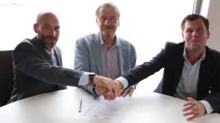 President Vicente Fox & Entreps & GYLF, Firma Pacto Global Santander Sign Santander Global Agreement