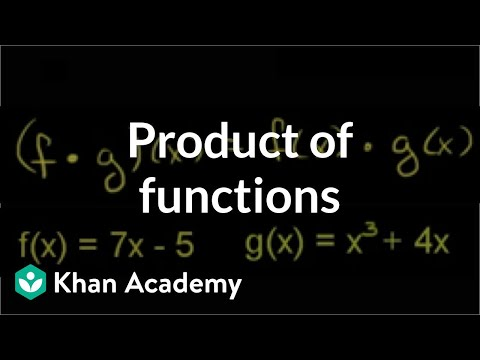 Multiplying Functions Video Functions Khan Academy