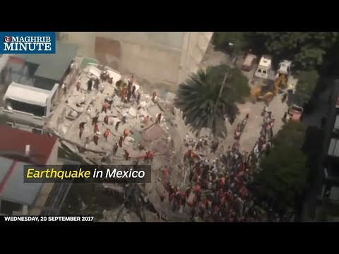Rescue crews searched through rubble for survivors in central Mexico after Tuesday's earthquake