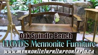 Mennonite Oak Spindle Bench