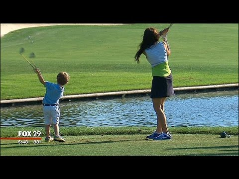 3-Year-Old Born With One Arm Makes Golf Look Easy