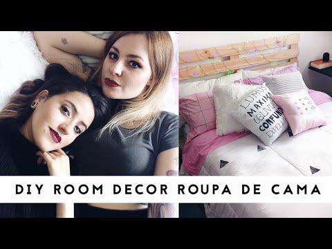 DIY Decoração para o Quarto - Roupa de Cama feat. Talitah Sampaio