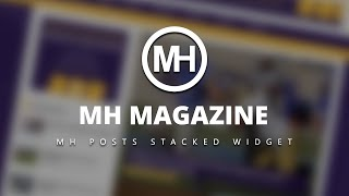 This video tutorial shows how you can make use of the MH Posts Stacked widget to display 5 stacked posts nicely including ...