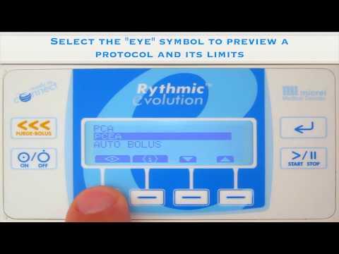 4 2 program through protocol - Hướng dẫn sử dụng bơm tiêm giảm đau Rythmic Micrel