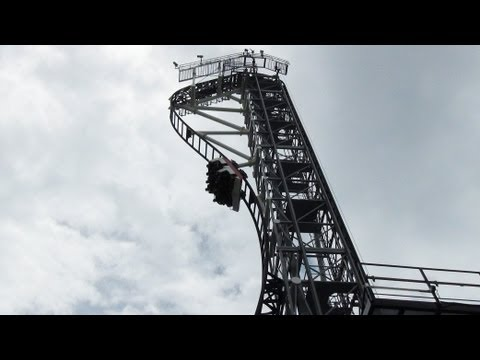 Coaster - Takabisha 高飛車 is the world's steepest roller coaster with a 121 degree beyond vertical first drop! The coaster is located at Fuji-Q Highland in Japan. Filmed...