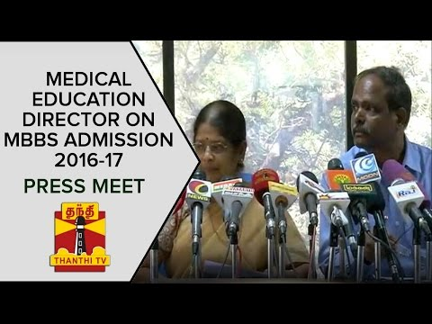 Medical-Education-Director-On-MBBS-Admission-2016-2017-Press-Meet-Thanthi-TV