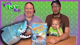 """Item provided for review by Goliath Games.  Teagan joins us as we have fun playing the Shark Bite game! SUBSCRIBE and never miss a video! http://www.youtube.com/subscription_center?add_user=BinsToyBinAbout Bin's Toy Bin →Adventures in toy collecting! Join husband and  wife team, Bin and Jon (and their son Teagan, too) as they review the latest (and sometimes not-so-latest) toys in their own unique way! Check back daily for new videos!  Also be sure to visit our 2nd YouTube channel for our Family Vlogs!GET YOUR OFFICIAL BIN'S TOY BIN GEAR! →  http://binstoybin.spreadshirt.com/Follow Bin & Jon → Bin's Toy Bin Family Vlogs (Our 2nd YouTube Channel): http://www.youtube.com/BinsToyBinTravelOfficial Site: http://binstoybin.com/IG: @binstoybinFB: https://www.facebook.com/BinsToyBinSnapchat: real_binstoybinTwitter: @BinsToyBinG+: https://plus.google.com/+BinsToyBinMUSIC USED:""""Beach Front Property"""" by Silent Partner from YouTube Audio Library"""