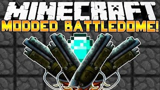 Minecraft Modded Battle Dome! - GUNS GUNS GUNS! - (Balkon's Weapon Mod) - Part 2/2
