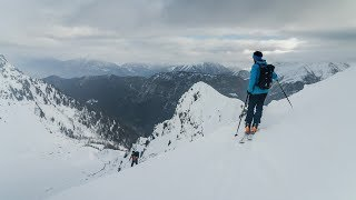 Ski Touring High Above Chamonix by Matt Groom
