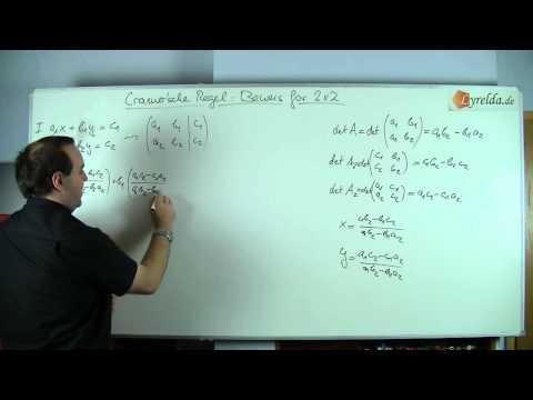 Cramersche Regel - Beweis