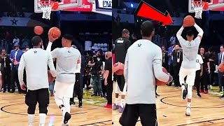 Video Russell Westbrook teaches Kyrie Irving how to DUNK OFF 1 FOOT MP3, 3GP, MP4, WEBM, AVI, FLV September 2018