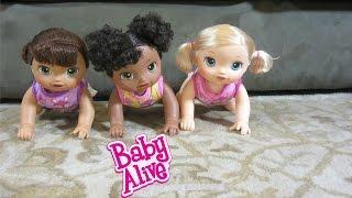 Video Baby Alive Go Bye-Bye Dolls have a crawling race!  + Help name 2! MP3, 3GP, MP4, WEBM, AVI, FLV November 2017