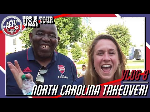 Arsenal Fans Invade North Carolina! | AFTV Vlog In Charlotte Day 7/8