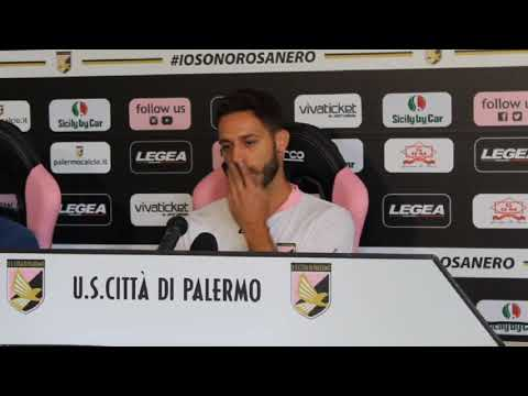 Palermo, Rispoli in conferenza stampa VIDEO