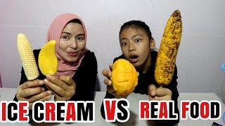 Video ICE CREAM VS REAL FOOD CHALLENGE MP3, 3GP, MP4, WEBM, AVI, FLV Juni 2019