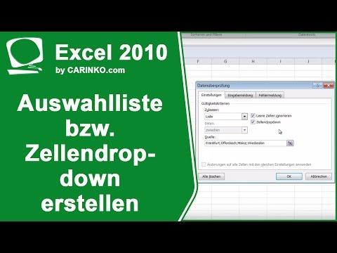 MS Office Excel Auswahlliste bzw. Zellendropdown erstellen einfach erklärt  – www.1-bit.info