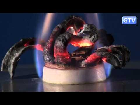 Фараонова змея из глюконата кальция - опыты