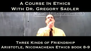 Three Kinds Of Friendship (Aristotle, Nichomachean Ethics Bk 8-9)