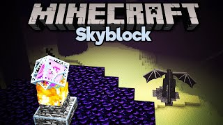Fighting the Ender Dragon in Skyblock! • Minecraft 1.15 Skyblock (Tutorial Let's Play) [Part 18]