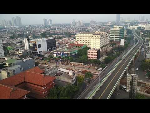 Aerial View Of The Capital City Of Indonesia, Jakarta