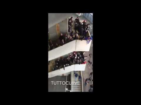 Ultras Salernitana in trasferta a Verona inneggiano agli scontri