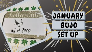 Stoney January 2020 Bullet Journal Set Up: Productive Stoner by Chronic Crafter