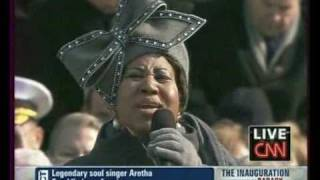 INVESTITURE OBAMA  17h45, Aretha Franklin chante - YouTube