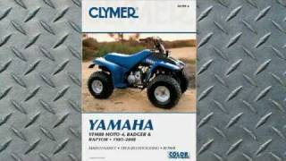 4. Clymer Manuals Yamaha YFM80 MOTO-4, BADGER and RAPTOR 1985-2008 ATV Manual