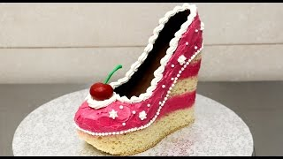 Shoe Cake Idea - How To Make / Torta Zapato by CakesStepbyStep
