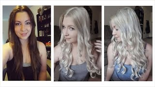 How I Bleached My Hair | Dark Brown to Light Ash Blonde - YouTube