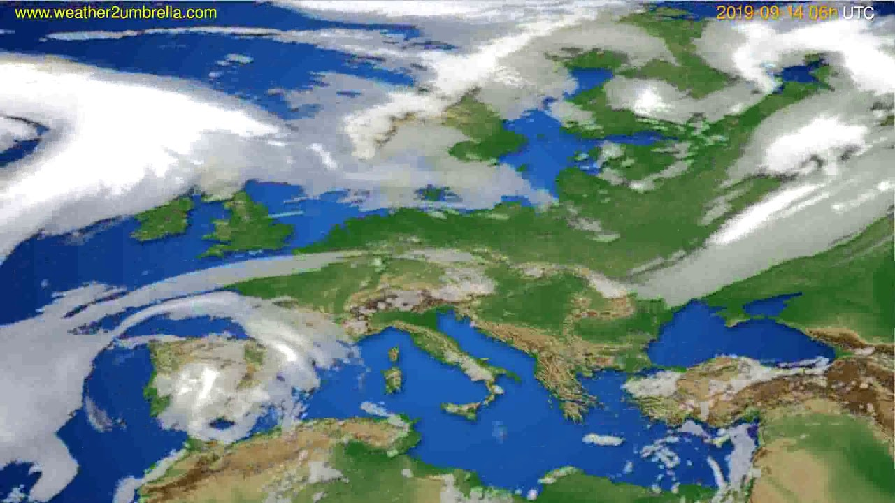 Cloud forecast Europe // modelrun: 12h UTC 2019-09-11