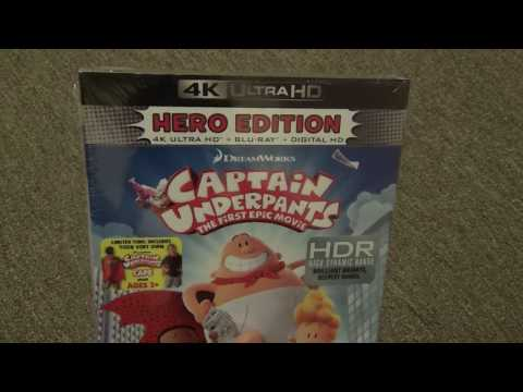 Captain Underpants: The First Epic Movie 4K Hero Edition Blu-Ray Unboxing