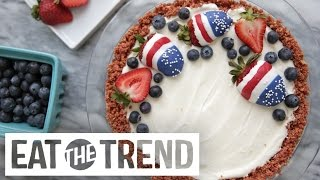 How to Make No-Bake Patriotic Cheesecake | Eat the Trend by POPSUGAR Food