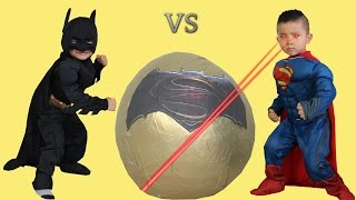 Batman Vs Superman Dawn Of Justice Toys Super Giant Surprise Egg Opening Ckn Toys
