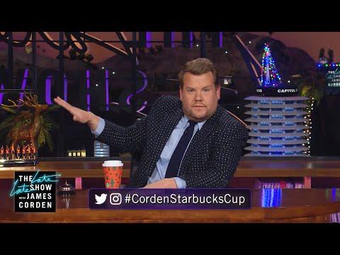 James Corden Can't Find the #CordenStarbucksCup