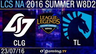CLG vs Liquid - LCS NA Summer Split 2016 - W8D2