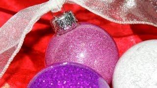 Glitter Floor Wax Ornaments - YouTube