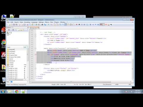 Projects in HTML5 – Chapter 51 – JQuery Mobile UI   Part 2