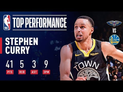 Video: Stephen Curry Goes For 41 Against New Orleans | January 16, 2019