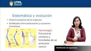 UTPL CLASIFICACIÓN DE ORGANISMOS [(GESTIÓN AMBIENTAL)(BIOLOGÍA GENERAL)]