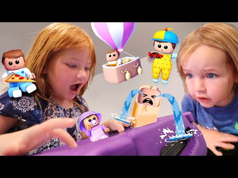 CRAZY BABiES at Adley's Day Care!!  Roblox Family with Niko and Dad! pirate house and plane vacation