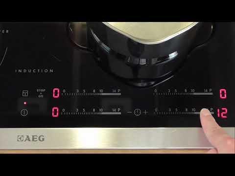 Recensione comandi Slider classici AEG-Electrolux, su piano cottura a induzione