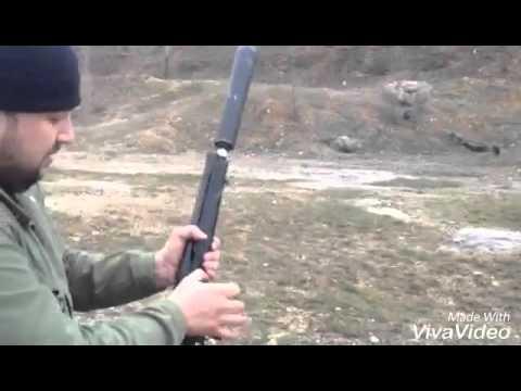 Глушитель на сайгу 12 видео