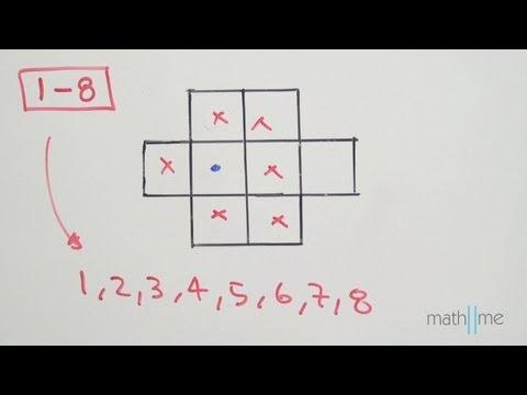 Anordnen die Zahlen von 1 bis 8 in einer Gestalt