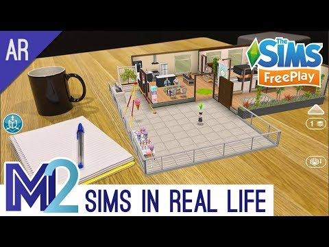Sims FreePlay in Real Life! AR Augmented Reality Tutorial (Early Access)