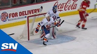 Leo Komarov Banks Puck Into Own Net To Give Calgary Flames A Goal by Sportsnet Canada