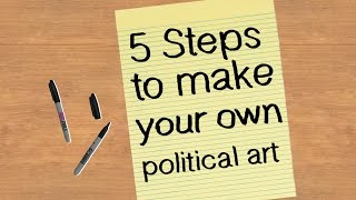 Share your art with us: https://wp.me/p4AWsA-eJBoldness, accessibility, visibility and reproducibility are just a few of the qualities that help make political art stand out and reach new audiences. Take these five steps to create your own political art, and let your work shout a message from the rooftops!