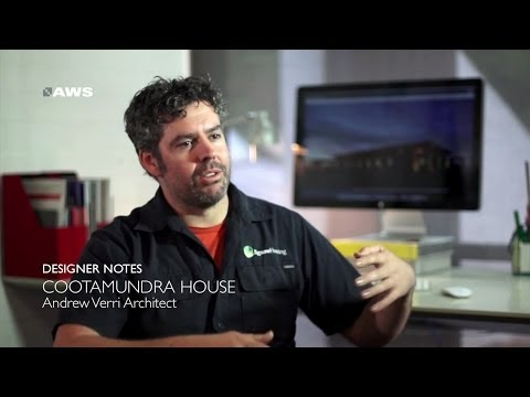 AWS Designer Notes- Andrew Verri from Andrew Verri Architect